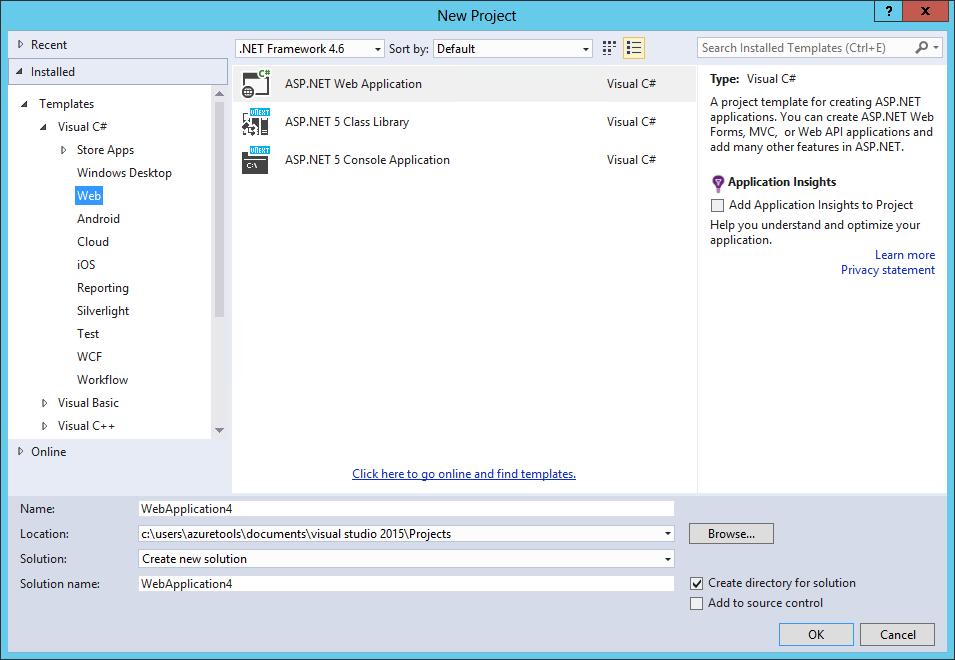 Your First ASP.NET 5 Application Using Visual Studio — Project Saas ...